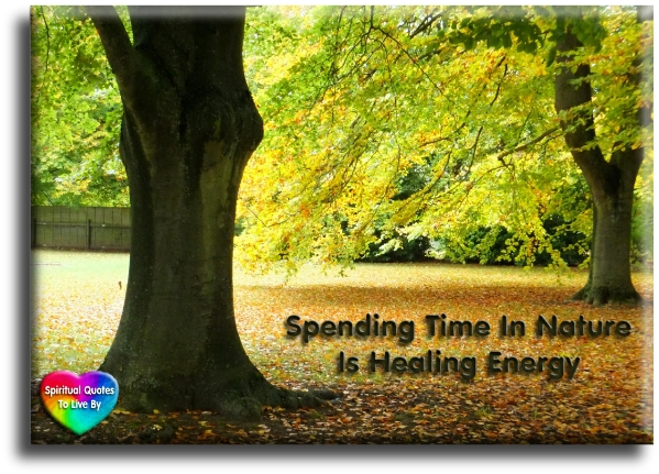 Spending time in nature is healing energy. - Spiritual Quotes To Live By