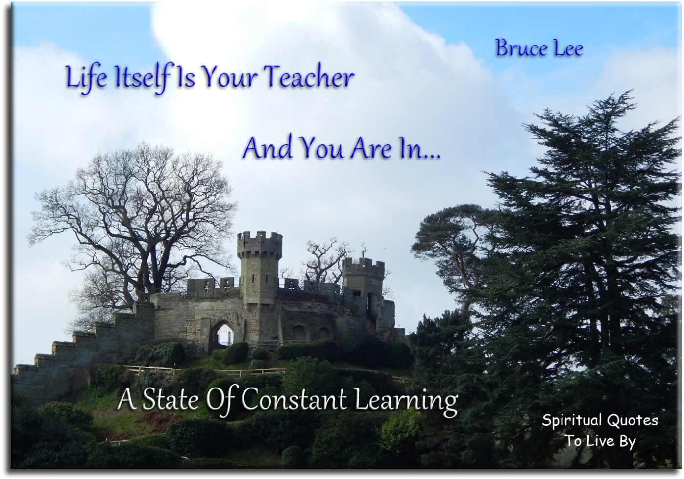 Life itself is your teacher, and you are in a state of constant learning - Bruce Lee - Spiritual Quotes To Live By