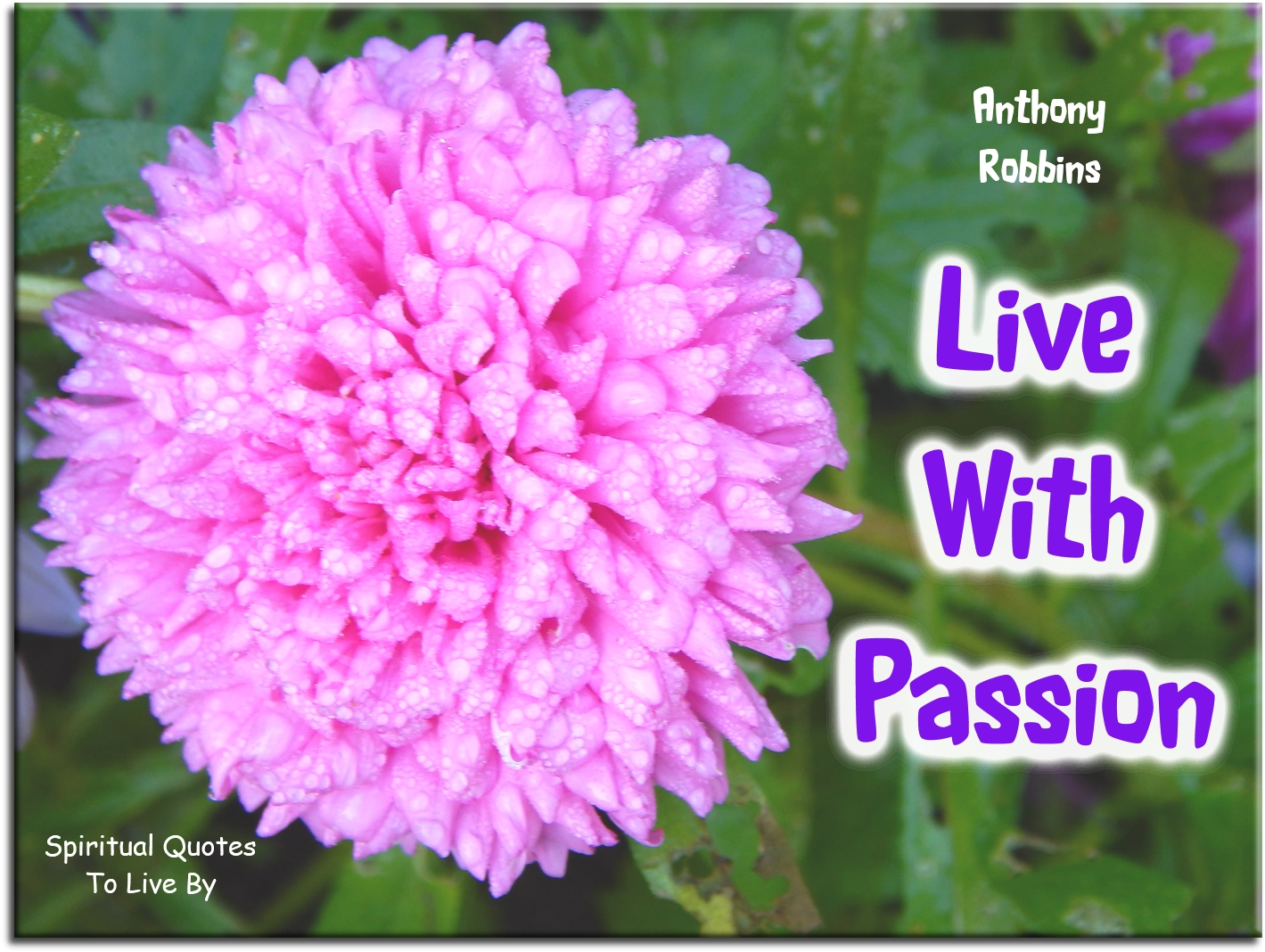 Anthony Robbins quote: Live with passion. - Spiritual Quotes To Live By