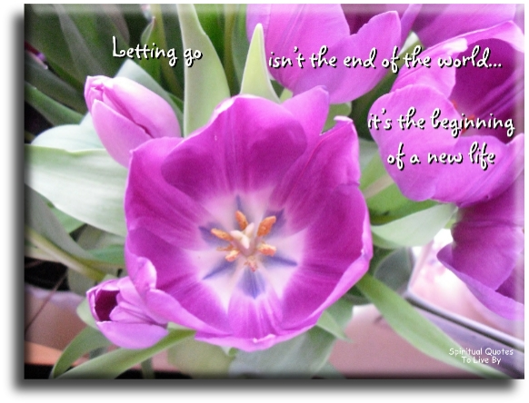 Letting go isn't the end of the world, it's the beginning of a new life. - (unknown) - Spiritual Quotes To Live By