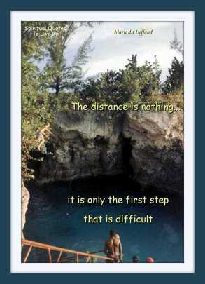 Teenager jumping off cliff in Jamaica - with quote