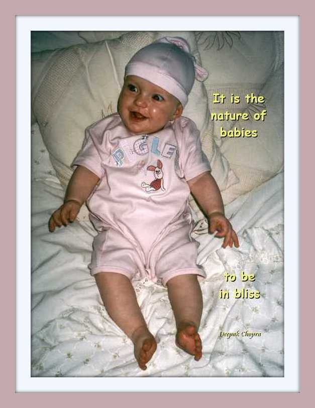 cute baby with quote