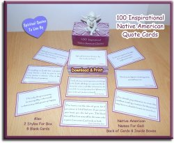 100 printable Native American quote card box set on Etsy - Spiritual Quotes To Live By