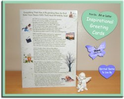 Everything That Has A Beginning Has An End - inspirational poem sympathy card - instantly available to download from Spiritual Quotes To Live By on Etsy