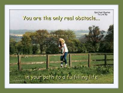You are the only real obstacle - Blog