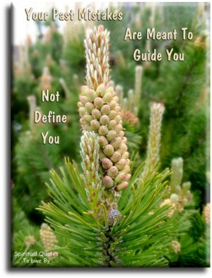 Your past mistakes are meant to guide you not define you - Spiritual Quotes To Live By