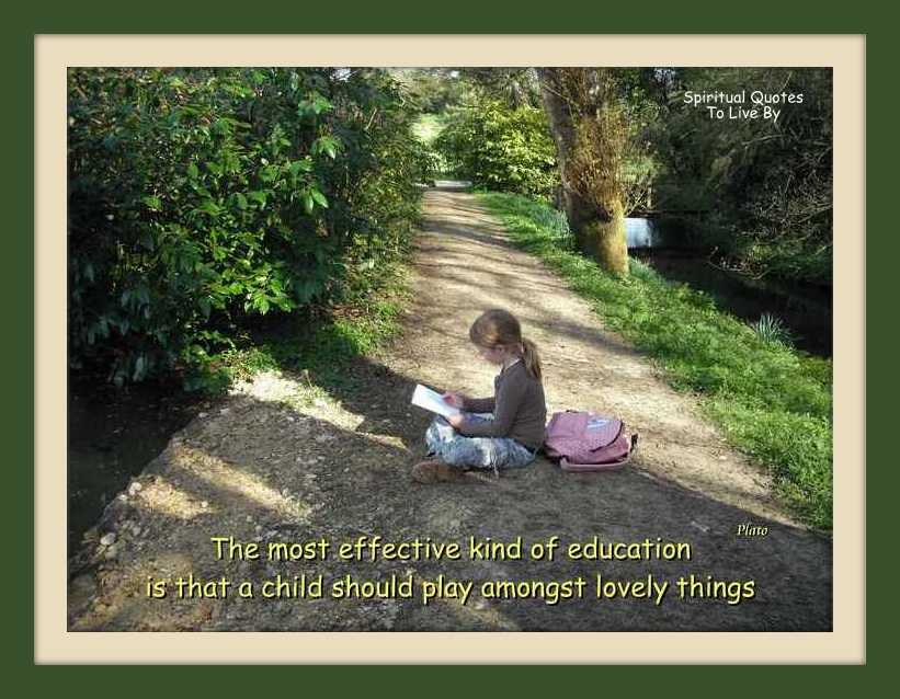 Education quote from Plato on photograph