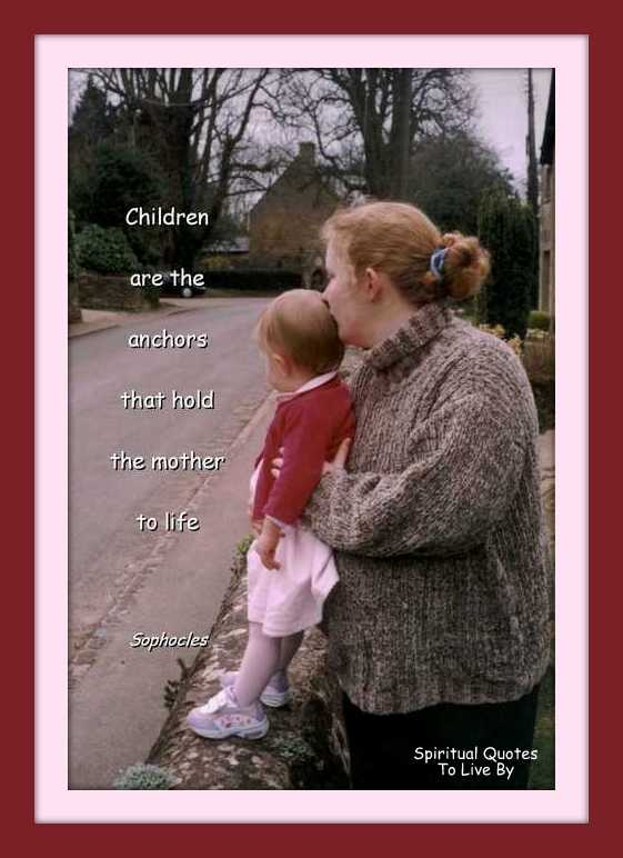quote on photo of mother and daughter