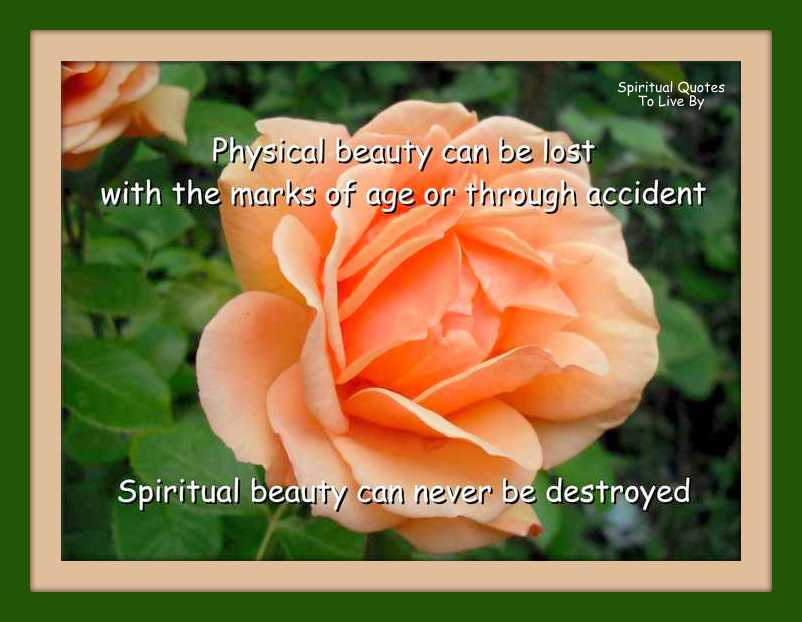 spirituality and physical appearance