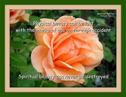 Physical beauty vs Spiritual beauty quote on photo - BLOG