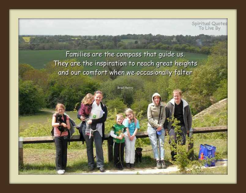 Families quote on photograph