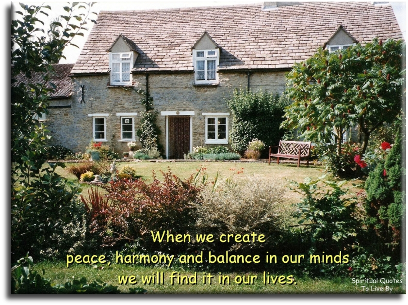 When we create Peace - BLOG - Spiritual Quotes To Live By