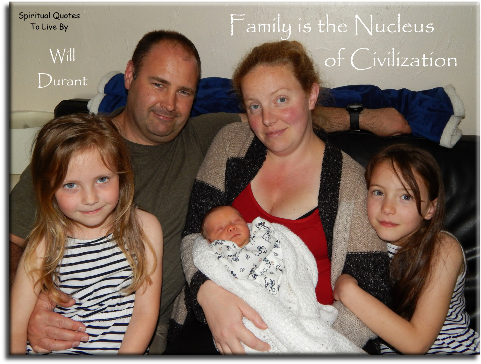 Will Durant quote: The family is the nucleus of civilization. - Spiritual Quotes To Live By