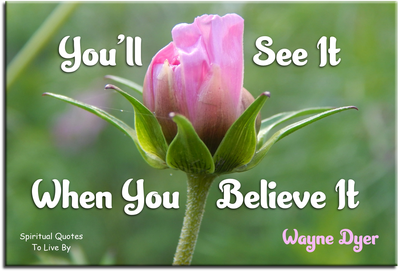 Wayne Dyer quote: You'll see it when you believe it. Spiritual Quotes To Live By