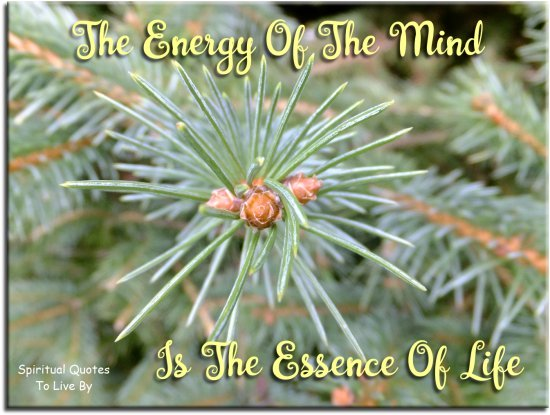 Aristotle quote: The energy of the mind is the essence of life. - Spiritual Quotes To Live By