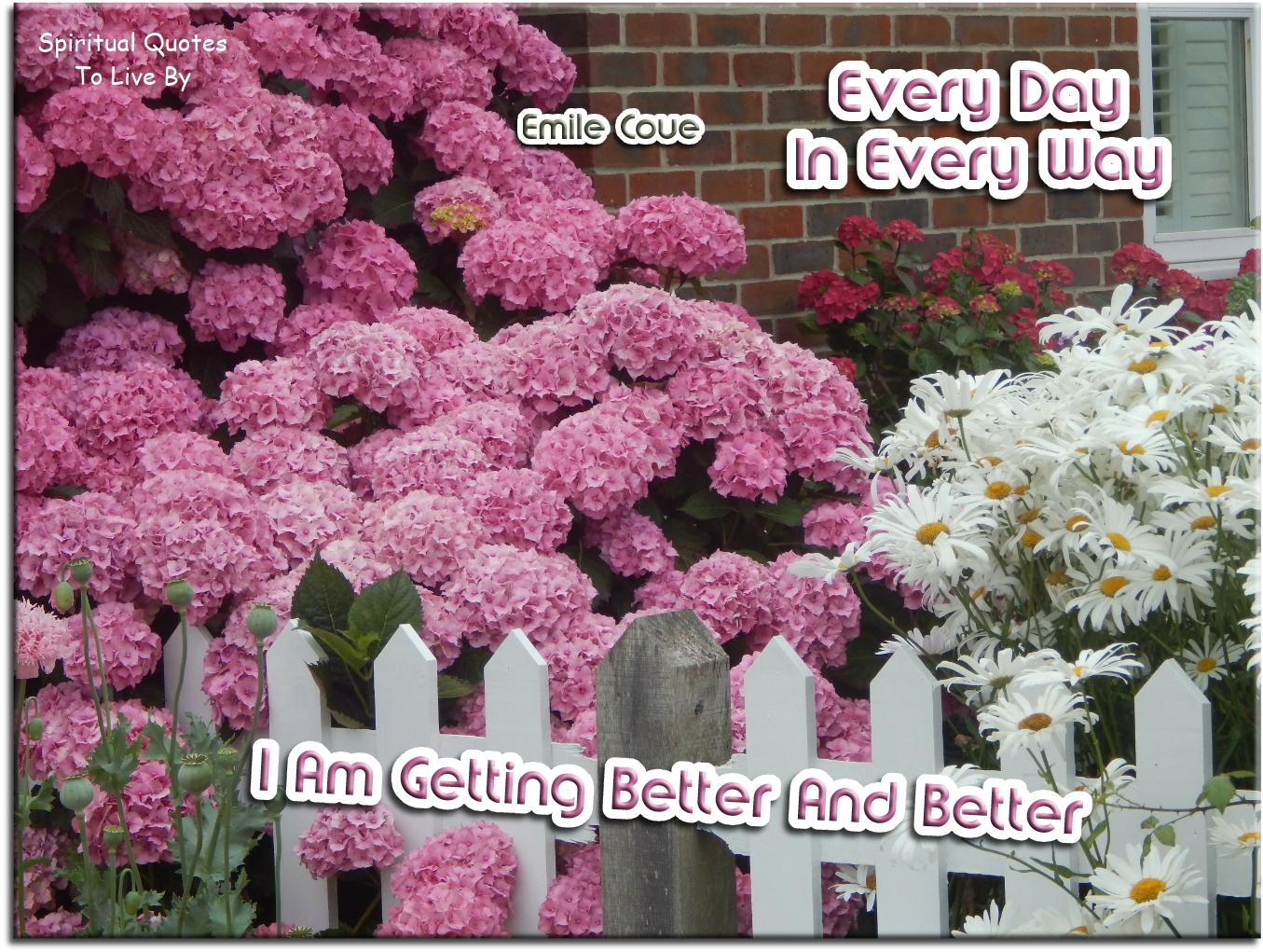 Emile Coue quote: Every day in every way I am getting better and better. - Spiritual Quotes To Live By
