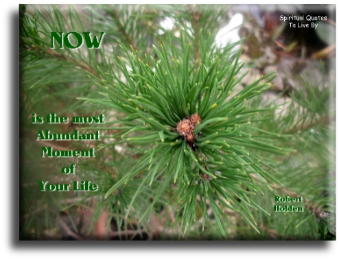 Robert Holden quote: NOW is the most abundant moment of your life. Spiritual Quotes To Live By