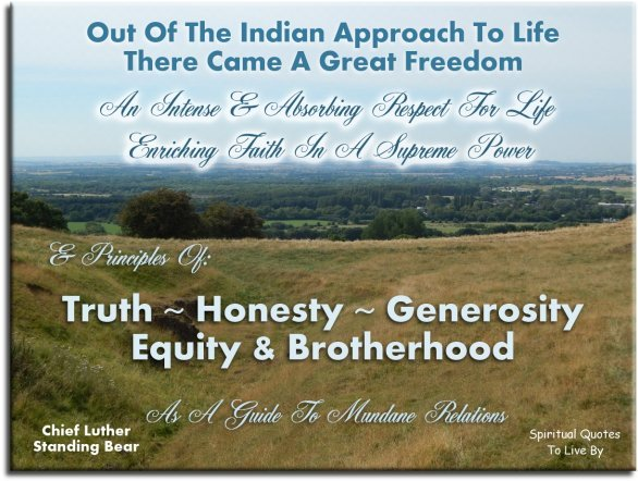 Positive Spiritual Quotes About Life Extraordinary Positive Native American Quotes