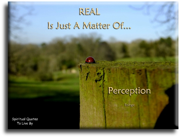 REAL is just a matter of perception - TV Series Fringe - Spiritual Quotes To Live By
