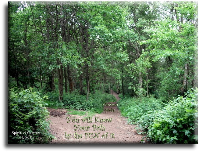 Abraham-Hicks quote: You will know your path by the fun of it. - Spiritual Quotes To Live By