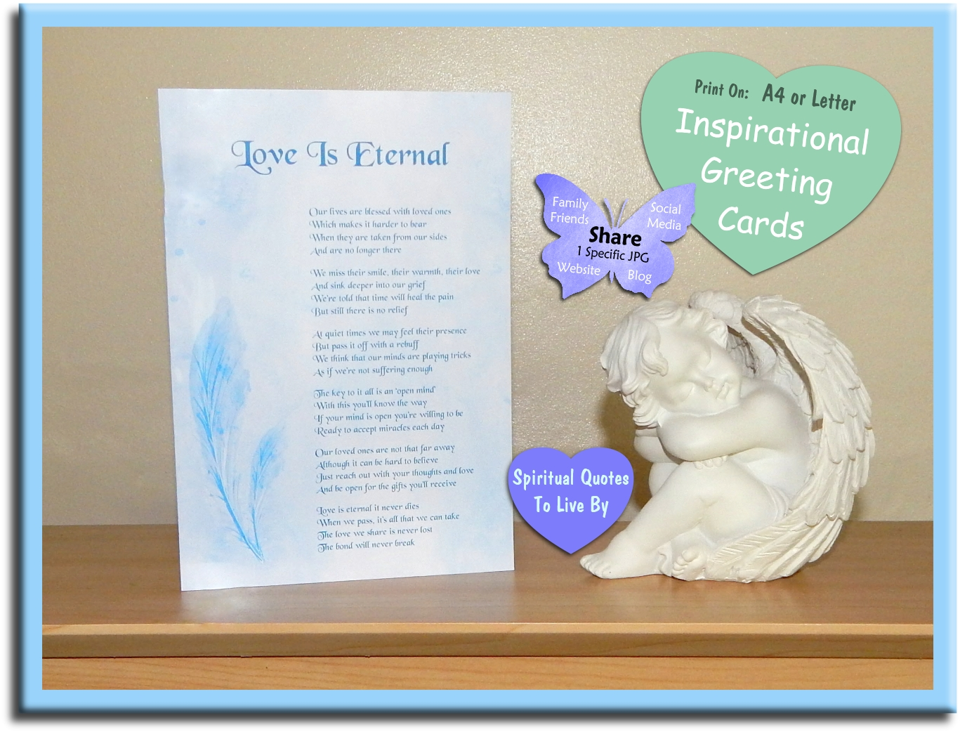 Love Is Eternal   Sympathy Card   On Etsy   Spiritual Quotes To Live By