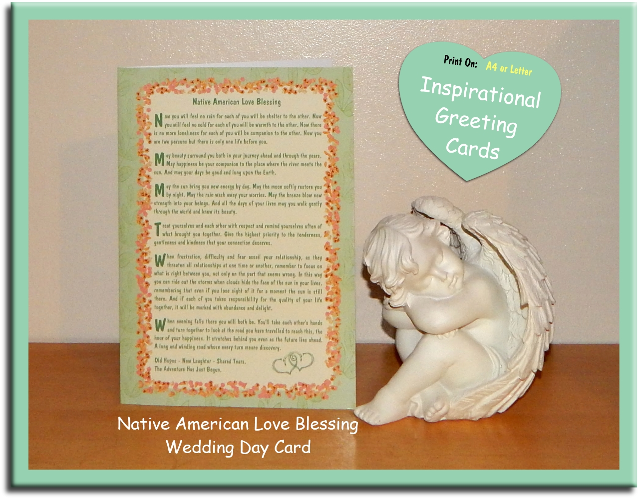 Native American Love Blessing - Inspirational Wedding Day Card - Spiritual Quotes To Live By on Etsy
