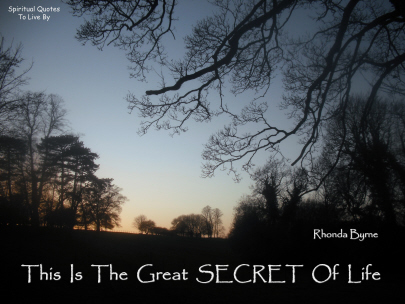 Rhonda Byrne quote from The Secret