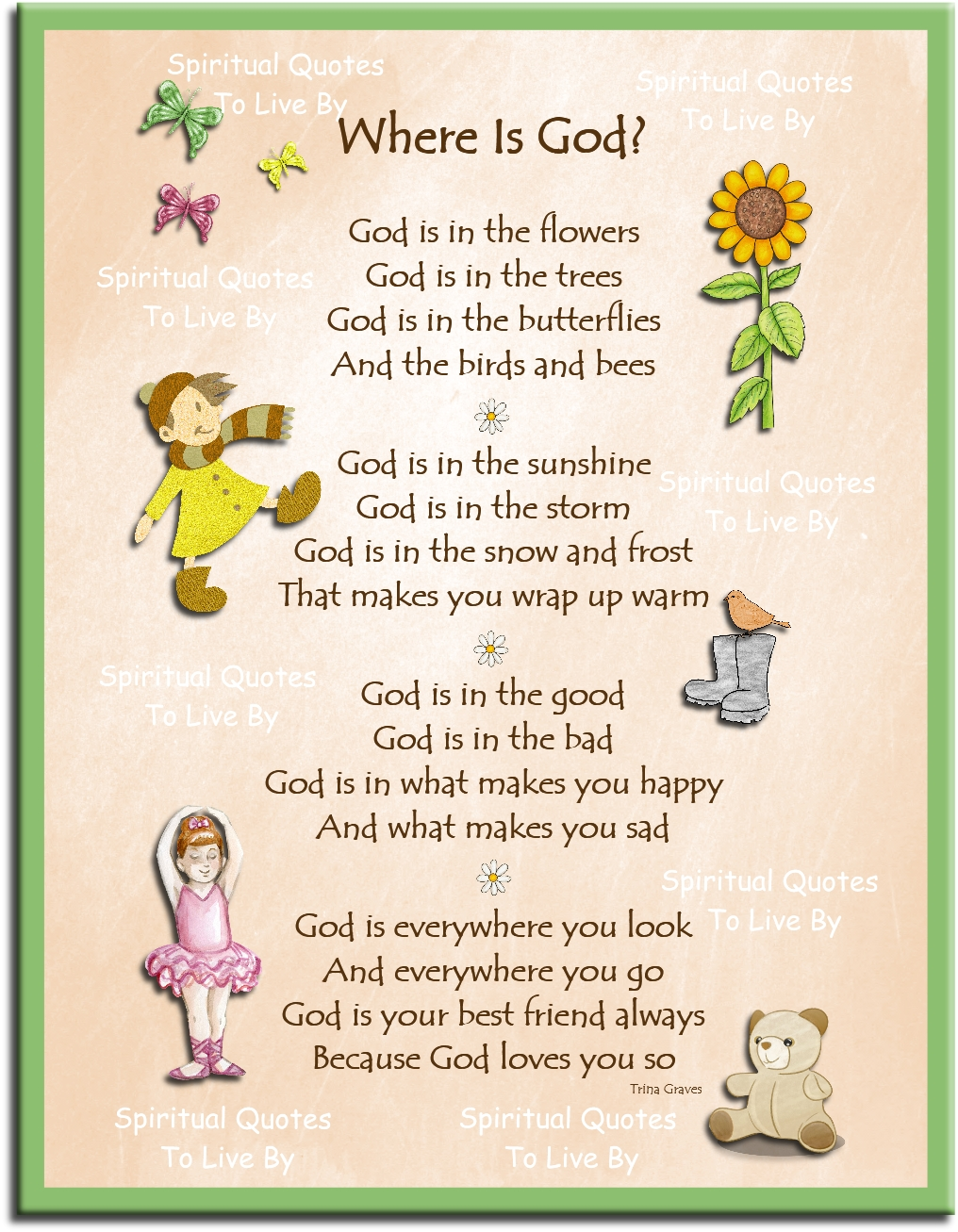 childs inspirational poem wall print instantly available to download from