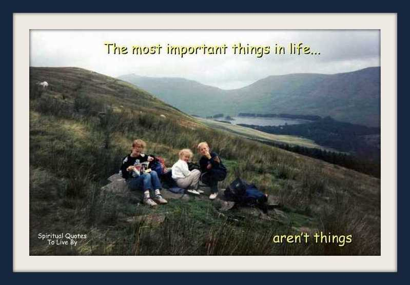 Children on hills in Wales - with quote