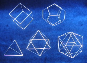Platonic solids by Sandra Reeves