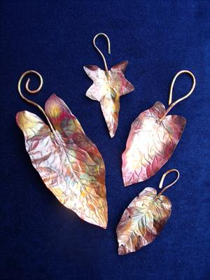 copper leaves by Sandra Reeves