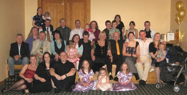 Family gathered for Golden Wedding Anniversary