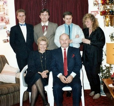 Family at Christmas 1980's