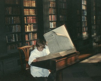 Child in Codrington Library, All Souls College, Oxford
