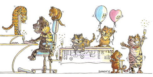 Cat celebrations by Sandra Reeves