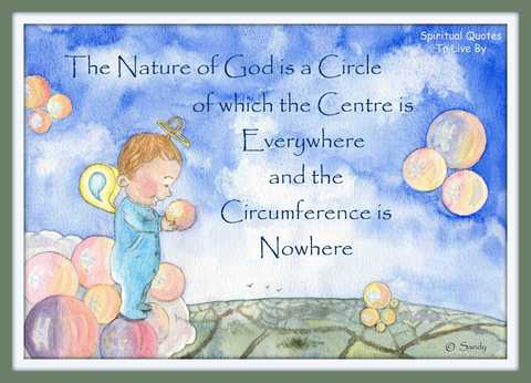 The nature of God is a circle - watercolour by Sandra Reeves