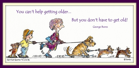 You don't have to get old - illustration by Sandra Reeves