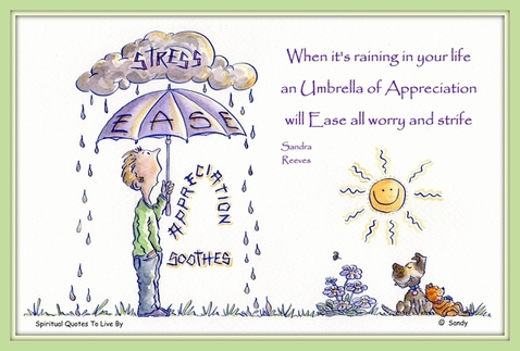 When it's raining - by Sandra Reeves