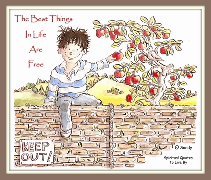 The best things in life are free - by Sandra Reeves
