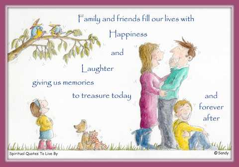 Family quote illustrated by Sandra Reeves 