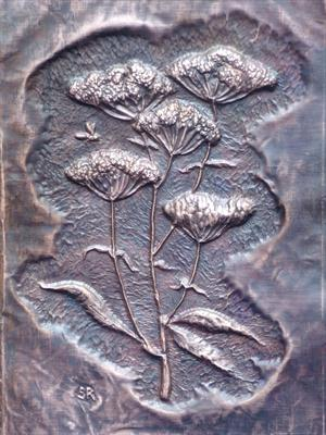 Chasing and Repousse ground elder by Sandra Reeves