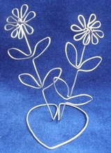 Wire flowers by Sandra Reeves
