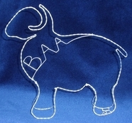 Wire sheep by Sandra Reeves