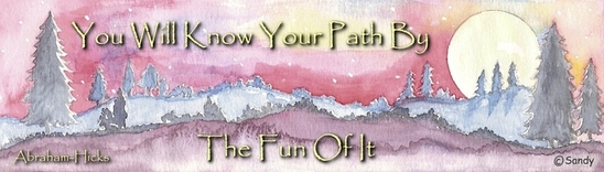 You will know your path - Abraham-Hicks quote on watercolour by Sandra Reeves