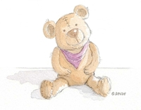 Happy brown bear by Sandra Reeves