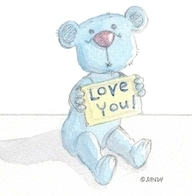 Love you bear by Sandra Reeves